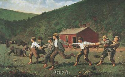 Snap The Whip poster print by Winslow Homer