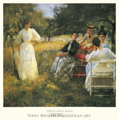 In The Orchard, 1891 poster print by Edmund CharlesTarbell