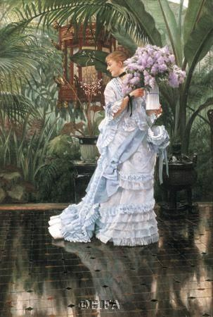 Bunch Of Lilacs poster print by James Tissot