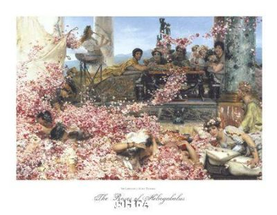 Roses Of Heliogabalus poster print by Sir Lawrence Alma-Tadema