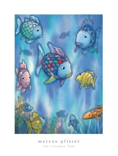 Rainbow Fish To The Rescue poster print by Marcus Pfister