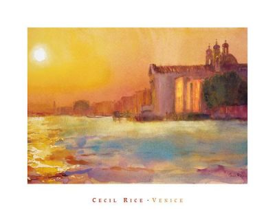 Sunset Over Zattere poster print by Cecil Rice