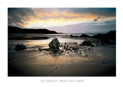 Whistling Sands, Gwynedd poster print by Joe Cornish