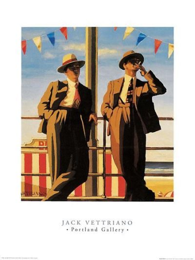 Seaside Sharks poster print by Jack Vettriano