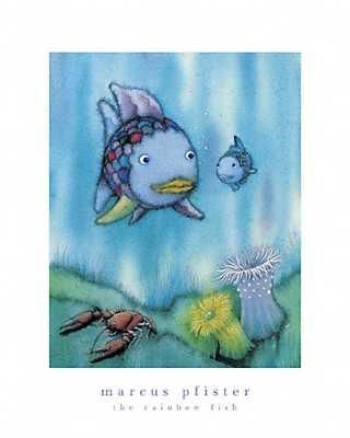 Rainbow Fish And The Little Blue Fish poster print by Marcus Pfister