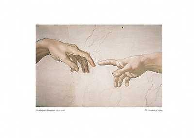 Creation Of Adam poster print by  Michelangelo