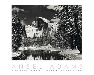 Half Dome, Merced River, Winter poster print by Ansel Adams