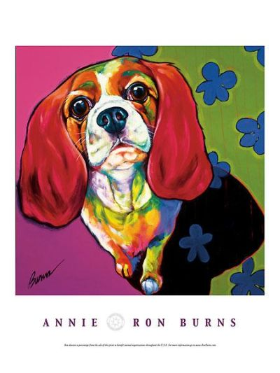 Annie poster print by Ron Burns