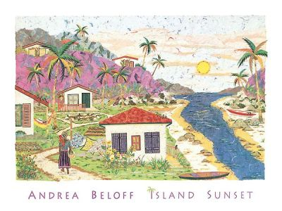 Island Sunset poster print by Andrea Beloff