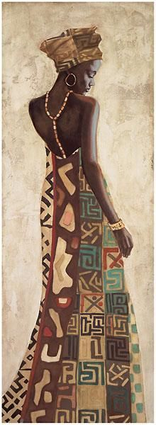 Femme Africaine III poster print by Jacques Leconte