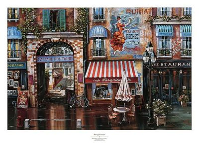 Passage Fontaine poster print by Mark St. John