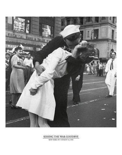 Kissing The War Goodbye poster print by  Unknown