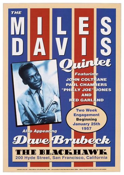 Miles Davis, 1957 poster print by  Unknown