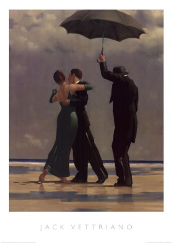 Dancer in Emerald poster print by Jack Vettriano
