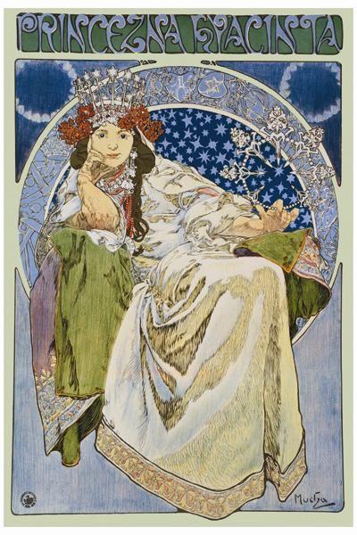 Princezna Hyacinta poster print by AlphonseMucha