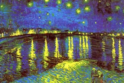 Night with Stars poster print by Vincent van Gogh