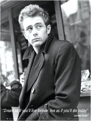 James Dean-Dream As You Live -Mural Siz poster print by  Unknown