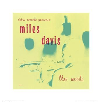 Miles Davis - Blue Mood poster print by  Unknown