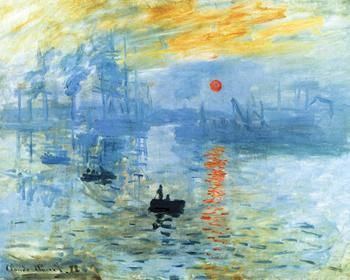 Sunrise 1872 poster print by Claude Monet