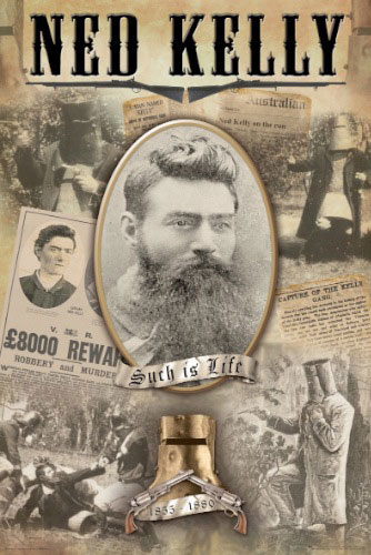 Ned Kelly - Collage poster print by  Novelty
