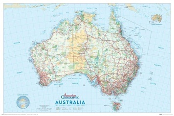 Australia map novelty art prints posters picturestore australia map poster print by novelty gumiabroncs Choice Image