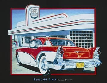 Route 66 Diner poster print by Don Stambler