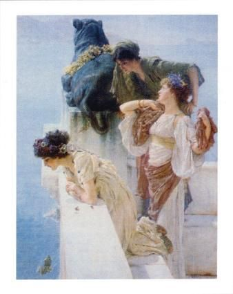 Aphrodite's Cradle poster print by Sir Lawrence Alma-Tadema