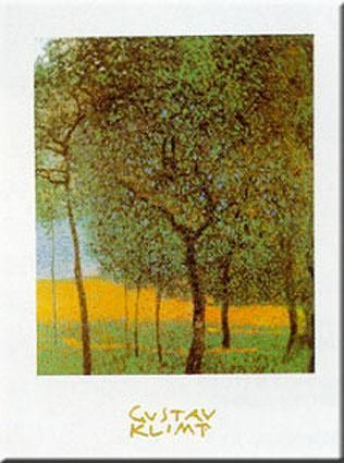 Fruit Trees poster print by Gustav Klimt