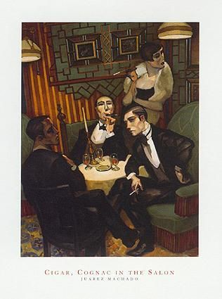 Cigar, Cognac in the Salon poster print by Juarez Machado
