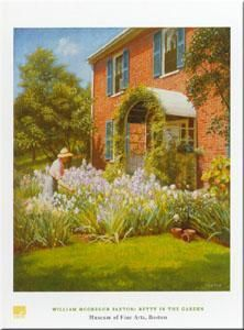 Betty in Garden poster print by William Paxton
