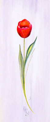 Tulip Red I poster print by Karen Foley