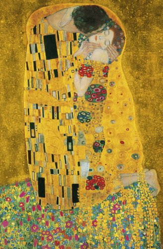 Der Kuss (The Kiss) art poster print by Gustav Klimt