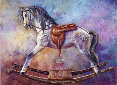 Rocking Horse II poster print by Les Miles