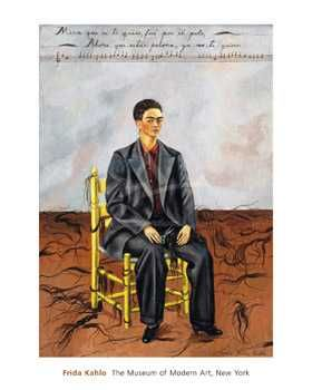 Self-Portrait with Cropped Hair, 1940 poster print by Frida Kahlo