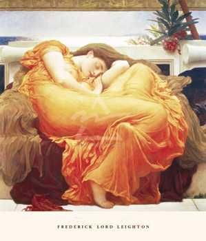 Flaming June poster print by Frederic Lord Leighton