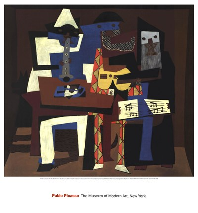 Three Musicians poster print by Pablo Picasso