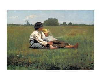 Boys In A Pasture, 1874 poster print by WinslowHomer