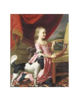 Young Lady With A Bird And Dog, 1767 poster print by John Singleton Copley