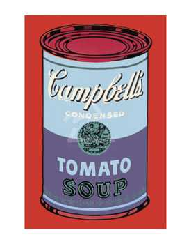 Campbell's Soup Can, 1965 (Blue & Purple poster print by Andy Warhol