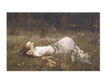 Ophelia, 1St Exhibited 1889 poster print by John William Waterhouse
