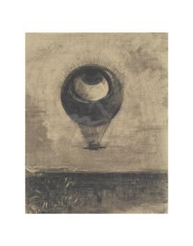Eye-Balloon poster print by  Redon