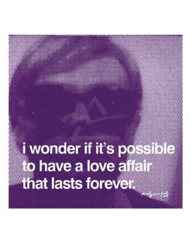 I Wonder If It's Possible To Have A Love poster print by Andy Warhol