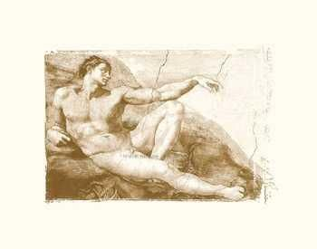 Creation Of Adam (Adam Detail) (Embossed poster print by  Michelangelo