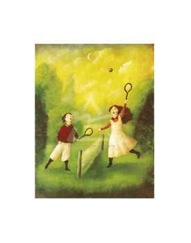 Children Playing Tennis poster print by  Mackey
