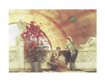 Unconscious Rivals poster print by Sir Lawrence Alma-Tadema