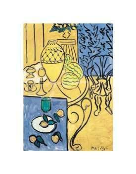 Interior In Yellow And Blue, 1946 poster print by Henri Matisse