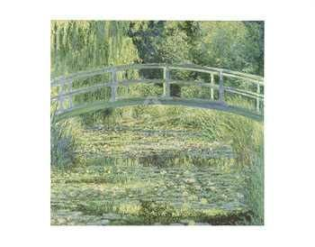 Water Lily Pond And Bridge poster print by Claude Monet
