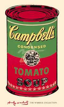 Campbell's Soup Can, 1965 (Green Red) poster print by Andy Warhol