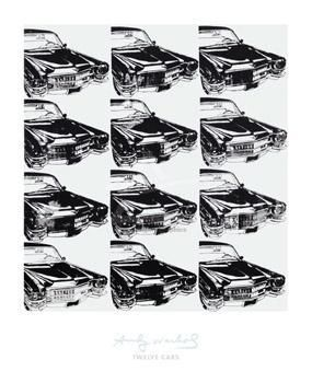 Twelve Cars, 1962 poster print by Andy Warhol