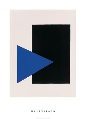 Black Rectangle, Blue Triangle, 1915 poster print by Kasimir Malevich